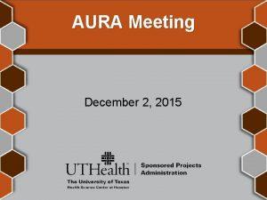 AURA Meeting December 2 2015 Welcome Krystal Toups
