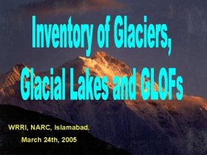 WRRI NARC Islamabad March 24 th 2005 PARCICIMOD
