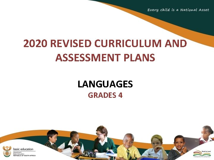 2020 REVISED CURRICULUM AND ASSESSMENT PLANS LANGUAGES GRADES