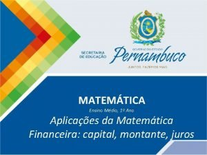MATEMTICA Ensino Mdio 1 Ano Aplicaes da Matemtica