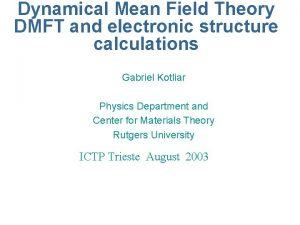 Dynamical Mean Field Theory DMFT and electronic structure