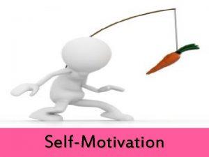 SelfMotivation Objective Explain What is Motivation Explain What
