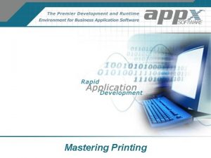 Mastering Printing Printing Basics Printer Control Options ServerSide