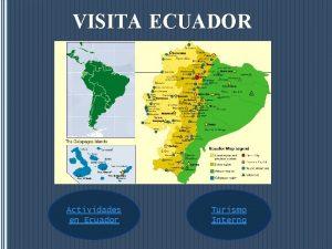 VISITA ECUADOR Actividades en Ecuador Turismo Interno Buceo