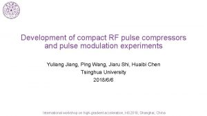 Development of compact RF pulse compressors and pulse