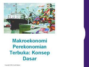 Makroekonomi Perekonomian Terbuka Konsep Dasar Copyright 2004 SouthWestern