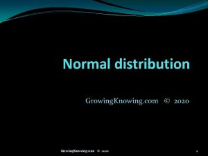 Normal distribution Growing Knowing com 2020 1 Normal
