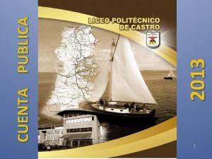 1 2013 CUENTA PUBLICA DATOS GENERALES LICEO POLITECNICO