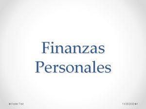 Finanzas Personales Footer Text 11252020 1 Qu es