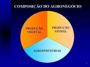 COMPOSIO DO AGRONEGCIO PRODUO VEGETAL PRODUO ANIMAL AGROINDSTRIAS