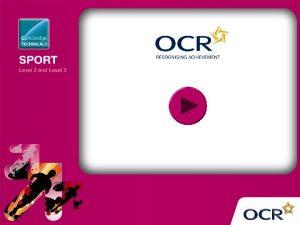 OCR Cambridge Technicals in Sport Level 2 d