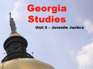 Georgia Studies Unit 5 Juvenile Justice Lesson 5