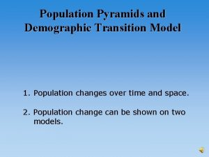 Population Pyramids and Demographic Transition Model 1 Population