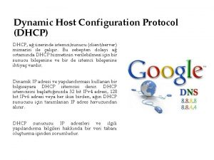 Dynamic Host Configuration Protocol DHCP DHCP a zerinde