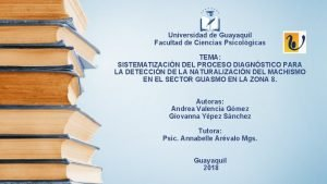 Universidad de Guayaquil Facultad de Ciencias Psicolgicas TEMA