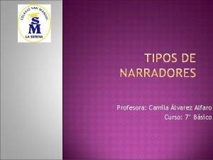 Profesora Camila lvarez Alfaro Curso 7 Bsico El