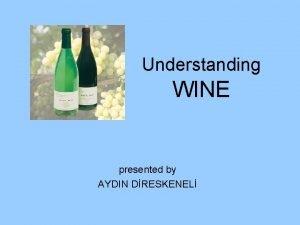 Understanding WINE presented by AYDIN DRESKENEL How wine