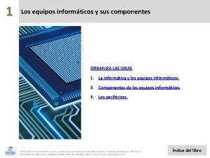 1 Los equipos informticos y sus componentes ORGANIZA