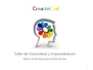 Creatividad Taller de Creatividad y Emprendedores Mtra Arod