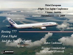 Third European Flight Test Safety Conference Vienna Austria