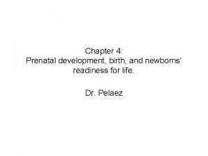 Chapter 4 Prenatal development birth and newborns readiness