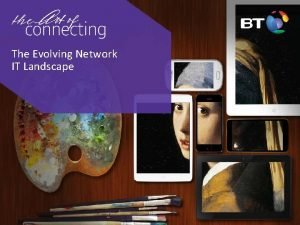 The Evolving Network IT Landscape Agenda The relationship