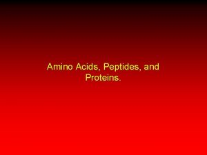 Amino Acids Peptides and Proteins Classification of Amino