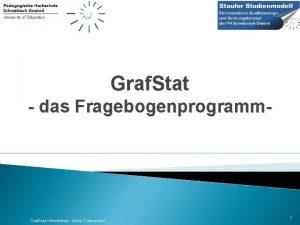Graf Stat das Fragebogenprogramm Graf StatWorkshop Silvia Cramerotti