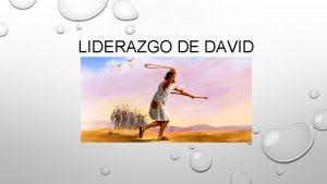 LIDERAZGO DE DAVID LIDERAZGO Se denomina de esta