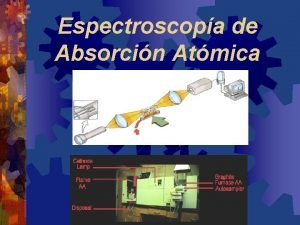Espectroscopa de Absorcin Atmica Espectroscopia Atmica ABSORCION EMISION