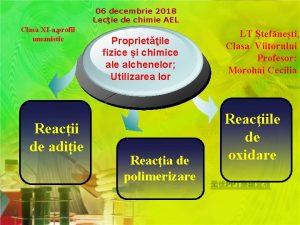 06 decembrie 2018 Lecie de chimie AEL Clasa