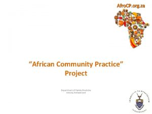 Afro CP org za African Community Practice Project