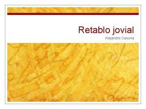 Retablo jovial Alejandro Casona 1 ALEJANDRO CASONA Y
