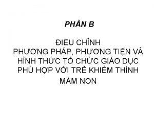 PHN B IU CHNH PHNG PHP PHNG TIN