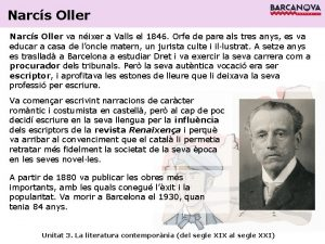 Narcs Oller va nixer a Valls el 1846