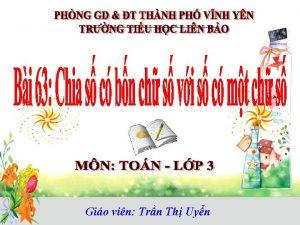 Gio vin Trn Th Uyn Kim tra bi