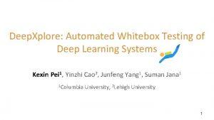 Deep Xplore Automated Whitebox Testing of Deep Learning