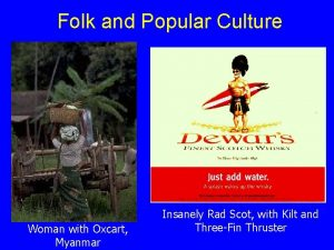 Folk and Popular Culture Woman with Oxcart Myanmar