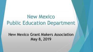 New Mexico Public Education Department New Mexico Grant