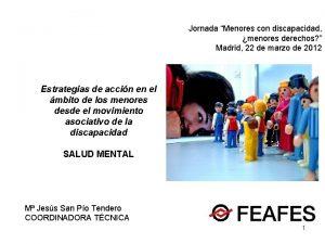 Jornada Menores con discapacidad menores derechos Madrid 22