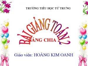 TRNG TIU HC T TRNG BNG CHIA 2