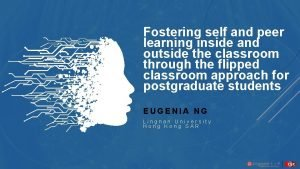 Fostering self and peer learning inside and outside