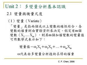 C F Chen 2006 C F Chen 2006