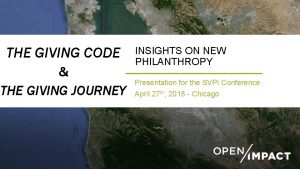 THE GIVING CODE THE GIVING JOURNEY INSIGHTS ON