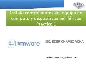 Instala controladores del equipo de computo y dispositivos