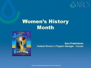 Womens History Month Sara Fredrickson Federal Womens Program