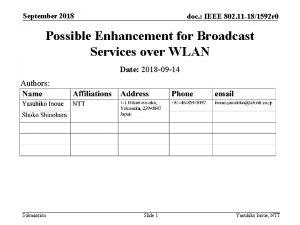 September 2018 doc IEEE 802 11 181592 r