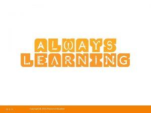 Ch 6 1 Copyright 2011 Pearson Education Strategic