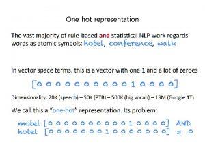 One hot representation One hot representation One hot