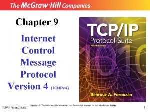 Chapter 9 Internet Control Message Protocol Version 4
